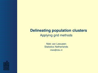 Delineating population clusters