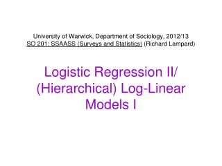 'Multiple' Logistic Regression