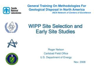 WIPP Site Selection and Early Site Studies