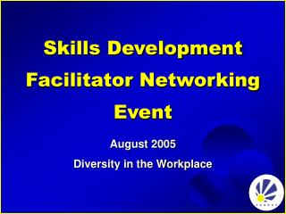 Skills Development Facilitator Networking Event