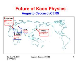 Future of Kaon Physics Augusto Ceccucci/CERN