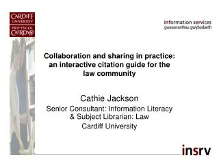 Collaboration and sharing in practice: an interactive citation guide for the law community