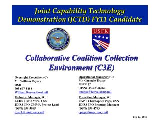 Joint Capability Technology Demonstration (JCTD) FY11 Candidate