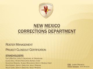 New Mexico  Corrections Department