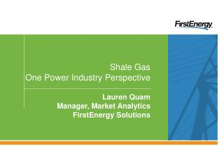 Shale Gas  One Power Industry Perspective