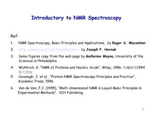 Introductory to NMR Spectroscopy