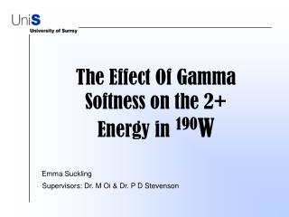 The Effect Of Gamma Softness on the 2+ Energy in 190 W