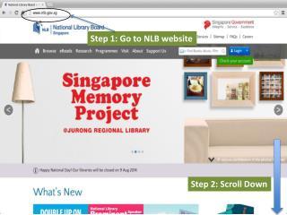 Step 1: Go to NLB website