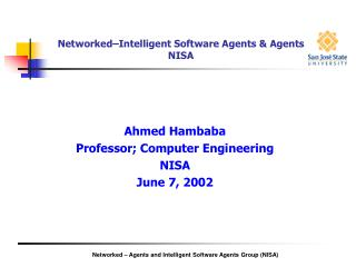 Networked–Intelligent Software Agents & Agents NISA