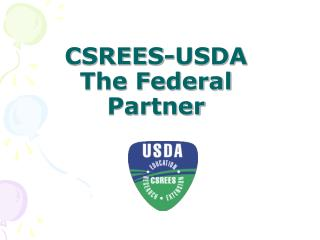 CSREES-USDA The Federal Partner