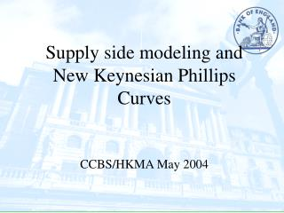 Supply side modeling and New Keynesian Phillips Curves