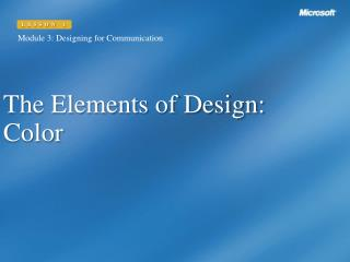 The Elements of Design: Color