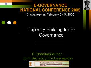 Capacity Building for E-Governance