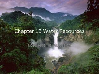 Chapter 13 Water Resources