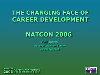 THE CHANGING FACE OF CAREER DEVELOPMENT