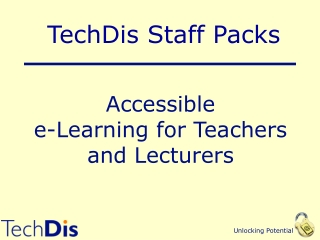 TechDis Accessibility Essentials 3: Creating Accessible Presentations