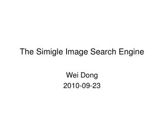 The Simigle Image Search Engine