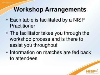 Workshop Arrangements
