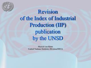 Marcel van Kints United Nations Statistics Division/DESA