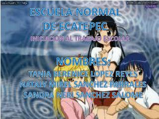 ESCUELA NORMAL DE ECATEPEC