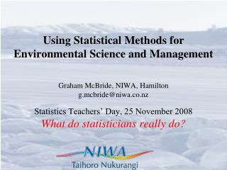 Using Statistical Methods for Environmental Science and Management