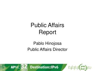 Public Affairs Report