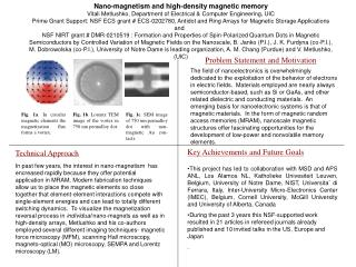 Nano-magnetism and high-density magnetic memory