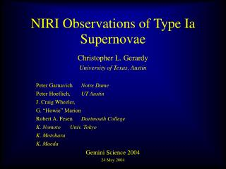NIRI Observations of Type Ia Supernovae