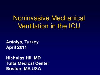 Noninvasive Mechanical Ventilation in the ICU