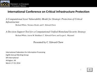 International Conference on Critical Infrastructure Protection