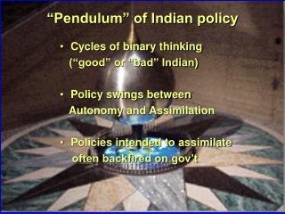 """Pendulum"" of Indian policy"