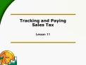 Tracking and Paying  Sales Tax