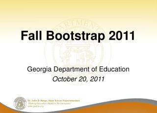 Fall Bootstrap 2011