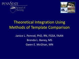 Theoretical Integration Using Methods of Template Comparison