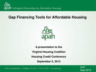 Gap Financing Tools for Affordable Housing