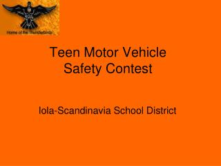 Teen Motor Vehicle Safety Contest