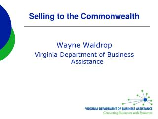Selling to the Commonwealth