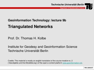 Geoinformation Technology: lecture 9b  Triangulated Networks