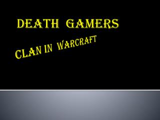 CLAN IN  WARCRAFT