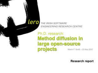 Ph.D. research: Method diffusion in large open-source projects