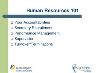 Human Resources 101