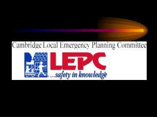 Linking With Your Community's Emergency Planning Program