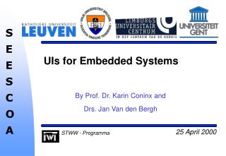 UIs for Embedded Systems
