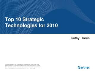 Top 10 Strategic Technologies for 2010