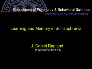 Learning and Memory in Schizophrenia