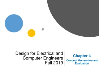 Design for Electrical and Computer Engineers Fall 2019