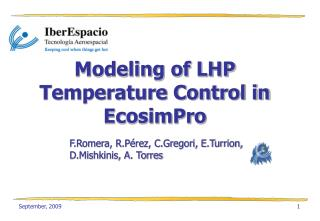 Modeling of LHP Temperature Control in EcosimPro