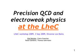 Precision QCD and  electroweak physics at the LheC