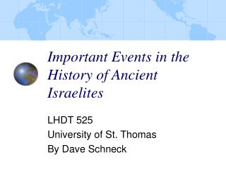 Important Events in the History of Ancient Israelites