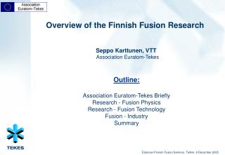 Overview of the Finnish Fusion Research